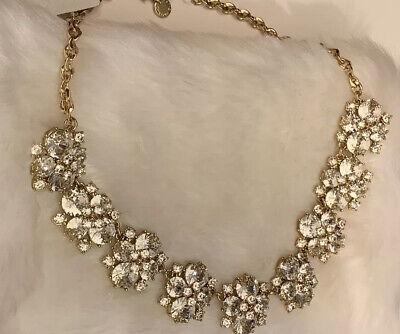 $64 Charter Club Crystal Rhinestone Flower Statement Necklace  MH 40