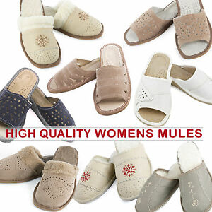 High-quality-leather-women-slippers-mules