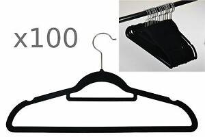 100pcs-Set-Cintre-antiderapant-Housse-de-velours-floque-Cintre-porte-pantalon