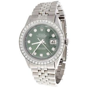 f9aa9d79643 A imagem está carregando Masculino-Rolex-36mm-Datejust-Relogio -16014-Diamond-Jubilee-