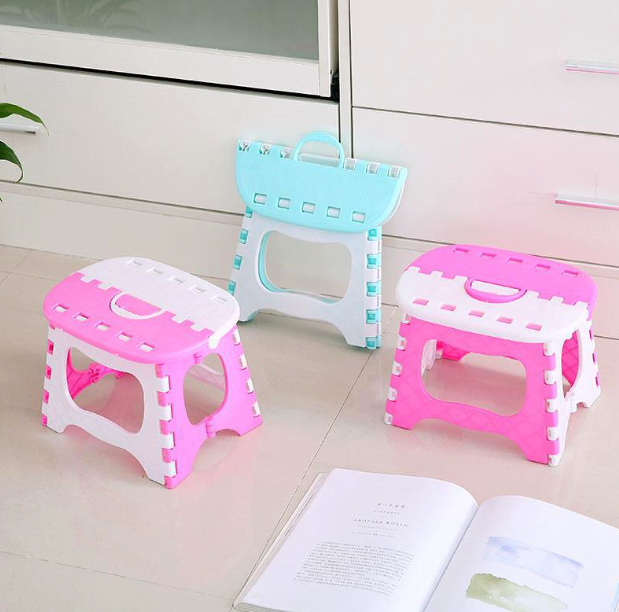 Home Kids Children Foldable Chair Step Stool Chair Portable Bench Folding Chair