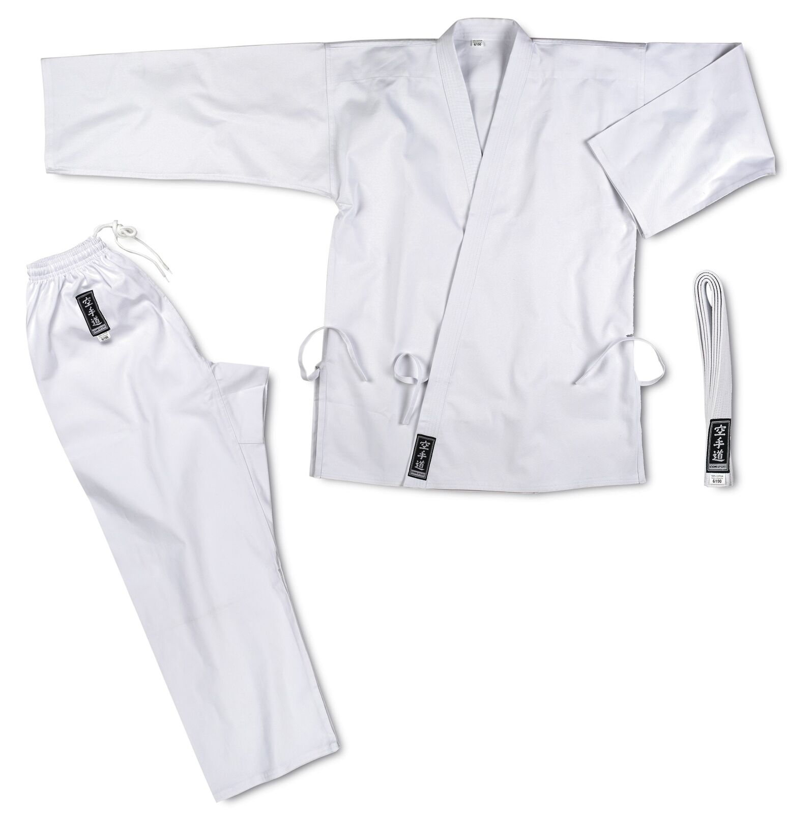 Karate-gi base cotone kimono kimono cotone bianco cintura CORSPORT divisa arti marziali scuola c36d17