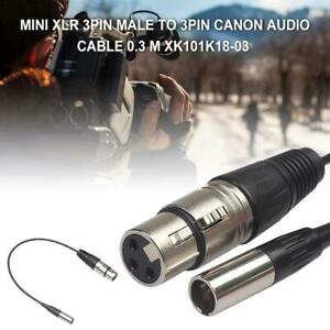 11in-XLR-3Pin-Male-To-Female-for-Pocket-Cameras-Microphone-Audio-Extension-Cable