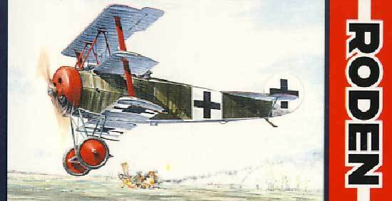 Roden Fokker Dr.I Red Baron 477 17 JG 1 JASTA 7 4 2 1 3 2 Model Kit New Set