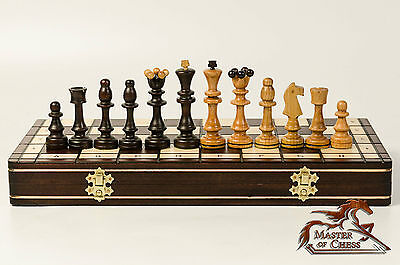 """EXTRAVAGANT CHERRY """"OLYMPIC'' 40x40 WOODEN CHESS SET! GREAT CHESSBOARD & PIECES!"""