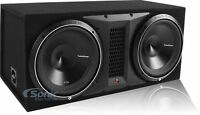 "Rockford Fosgate P3-2X12 1200W RMS Dual 12"" Punch P3 Loaded Subwoofer Enclosure"