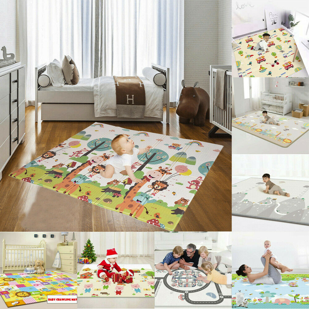 Laege Reversible Kids Activity Mat Baby Children Crawling Care Play Mat Foam Rug