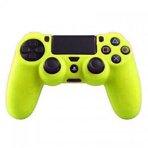 FUNDA MANDO compatible PS4 carcasa silicona Play Station 4 AMARILLO