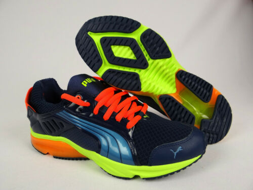 Mens Puma Power Tech Blaze Shoes Sneakers Blue Yellow 18744302 Running Size 10.5