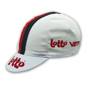 LOTTO VETTA RETRO VINTAGE CYCLING TEAM SUMMER MADE ITALY BIKE HAT CAP