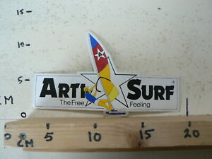 STICKER-DECAL-ARTI-SURF-THE-FREE-FEELING-RARE-STICKER-20-CM