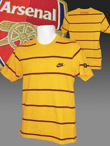 VINTAGE-NIKE-CLUB-DE-FUTBOL-ARSENAL-Estampada-Camiseta-Algodon-Amarillo-Pequeno