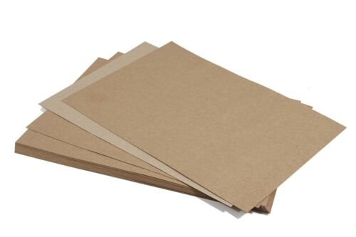40x Kraftpapier 100g DIN A5 sandbraun Naturkarton Recycling-Papier Scrapbooking