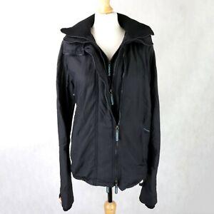 Herren Superdry Badeanzug 3-zip Jacke Größe Medium Netz gefüttert kurzer Mantel mit Kapuze