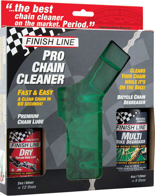 New Finish Line Pro Chain Cleaner with 2oz DRY Lube and 4oz EcoTech Degreaser