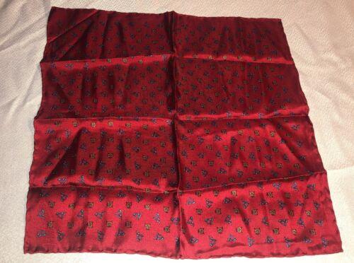 Macclesfield Red Pure Men's Pocket Silk Scarf