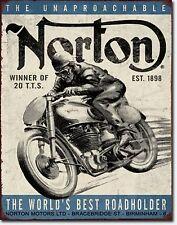 Norton Motorcycles Metal Sign Tin New Vintage Style USA #1706