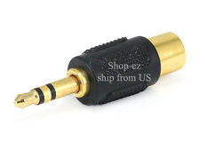 2/pk 3.5mm Stereo Male Plug to RCA Female Jack Adaptor converter - Gold Plated