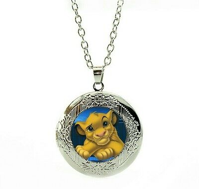 Lion King Necklace locket with gift poach Party gift Christmas  Birthday LC18
