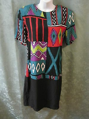 80's Just In Thyme LTD Southwestern Print Dress Size 10