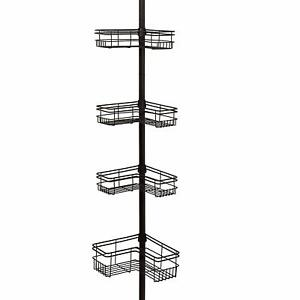 4 Tier Bronze Stainless Steel Rust Proof Tension Fitted Pole