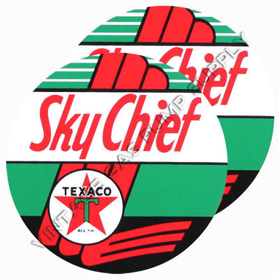 "Set of 6 Texaco Sky Chief 3/"" Vinyl Decals DC179C"