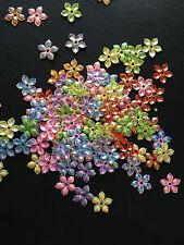 100 pcs Flower Sequins Scrapbooking Crafts Embellishments Card Making Plastic