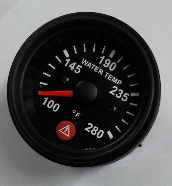 Electronic Water Temperature Gauge With Warning Spin Lock