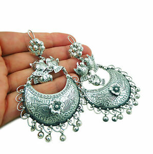Image Is Loading Large Lovebirds And Flowers 925 Sterling Taxco Silver