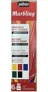 Pebeo-Initiation-Set-Marbling-Paint-6-x-20ml-Bottles-For-Card-Fabric-756495