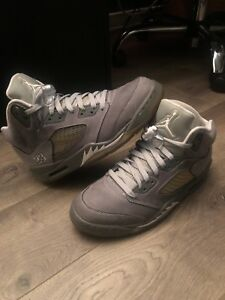 release date: f57f1 545aa Details about Air Jordan Retro 5 Wolf Grey 'Size 8.5""