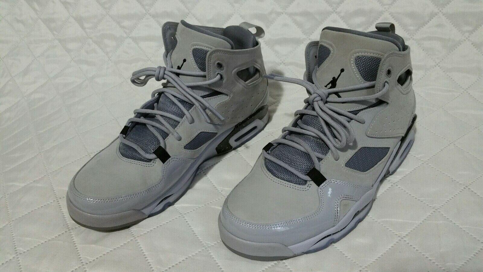 Nike Air Jordan Flight Club '91 Basketball Grey Black 555475 003 Sz 8.5