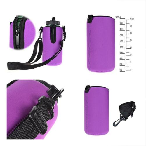 Protable Neoprene Insulated Water Drink Bottle Cooler Carrier Cover Sleeve Tote