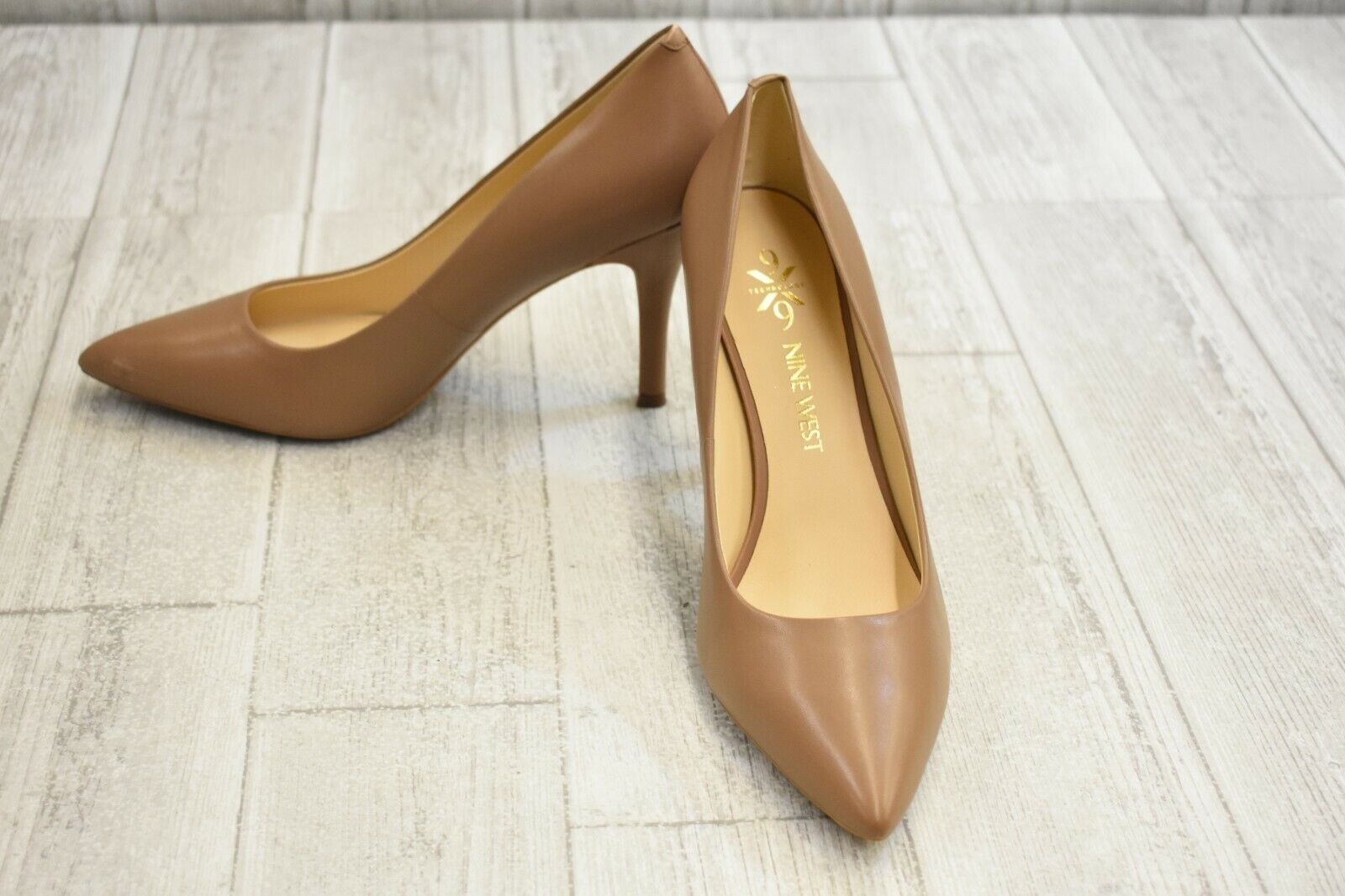 Nine West Fifth9X9 Pointed Toe Pump - Women's Size 9.5M Brown