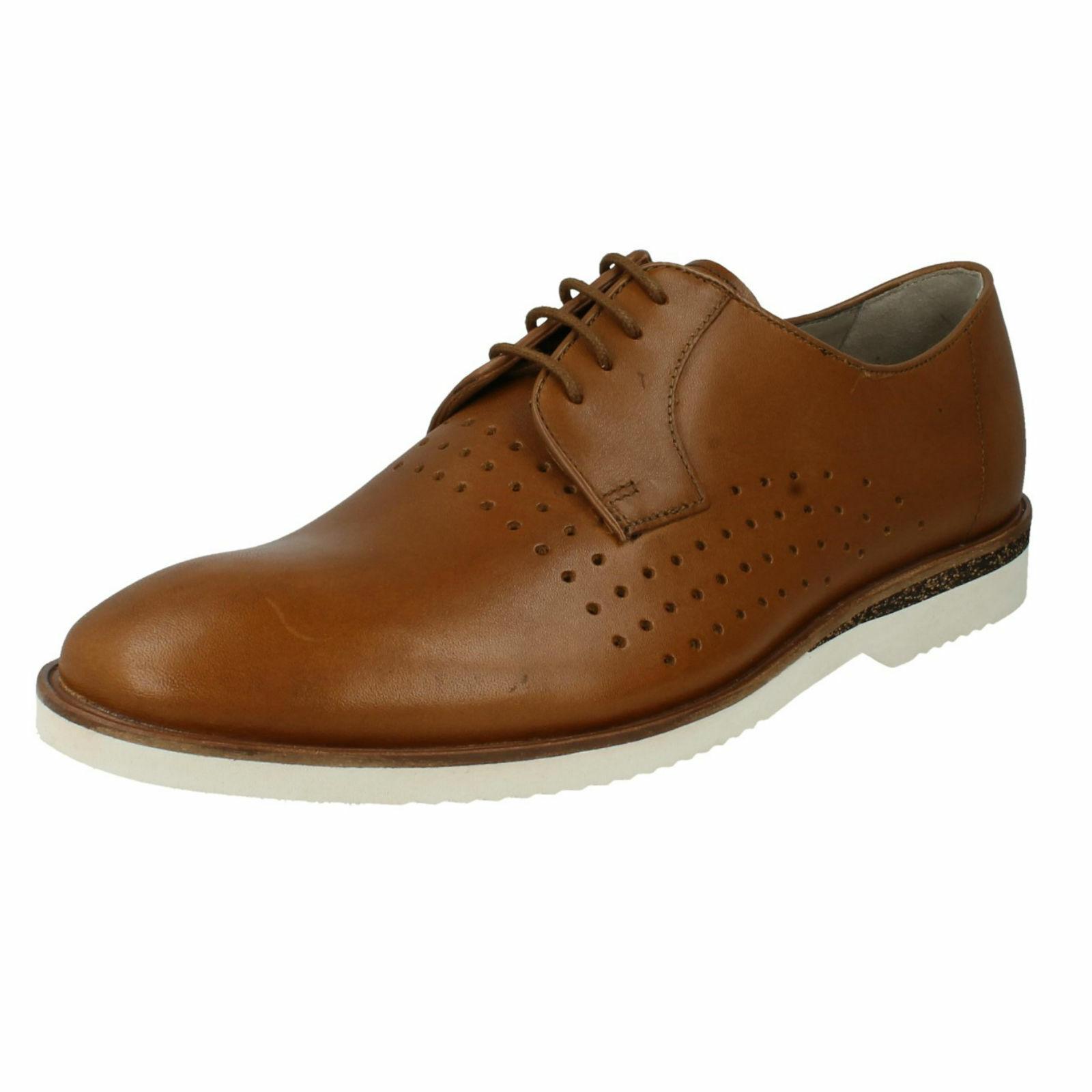 Clarks da men pelle Ufficio Estive Leggere shoes Casual con Lacci Tulik Edge