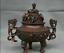 8-8-034-Marked-Old-China-Qing-Red-Copper-Dynasty-Dragon-Beast-Incense-Burner-Censer thumbnail 4