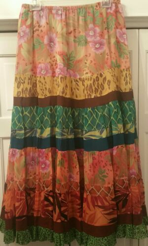 KENAR SILK LONG BOHO BRIGHT MULTI LAYER GREEN ORAN