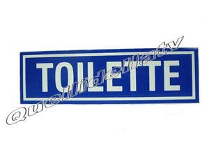 CARTELLO TOILETTE IN ALLUMINIO SEGNALETICA TARGA BAGNO WC 250X75 ...