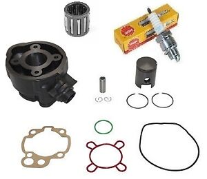Kit-Moteur-AM6-Cylindre-Piston-joints-cage-bougie-Motos-Rieju-Sherco-HRD-50