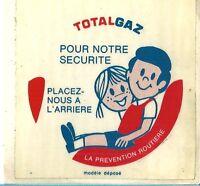 Autocollant Sticker Total Gaz Sécurité Routière