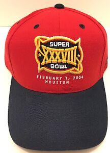 e6914d9d932e0 Vintage New England Patriots Super Bowl XXXVIII 38 Cap Hat 2004 Tom ...