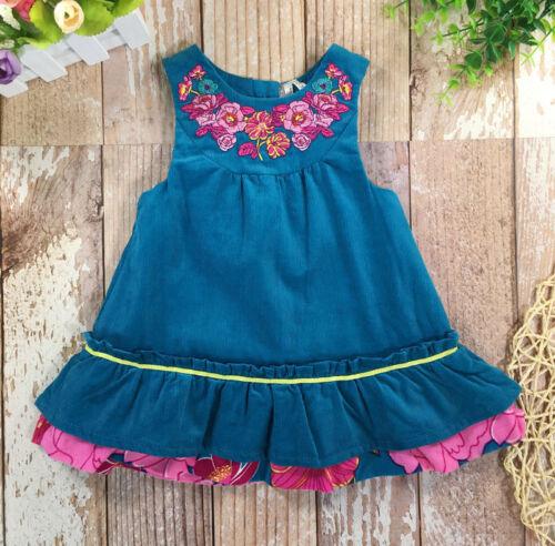 Newborn Baby Girl embroider Skirt dress outfits 1M