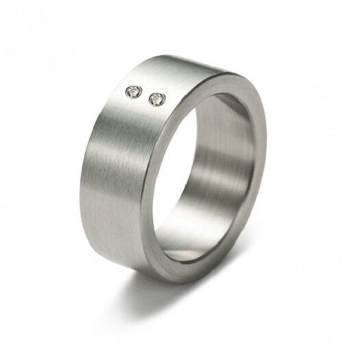 RING STEEL DIAMONDS MONOMANIA WOMAN 20002 SIZE 10, 12, 13 WEDDING COMMITMENT