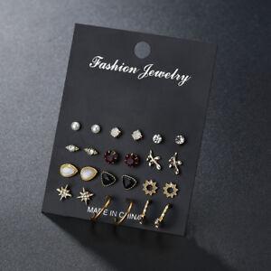 Women-Fashion-Multi-Shape-Ear-Stud-Earrings-Jewelry-Earrings-Set-Accessory-JA