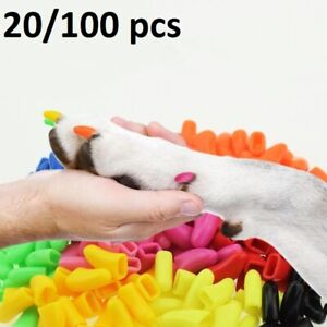 Dog Nail Caps Adhesive Soft Silicone Paw Cover For No Sound