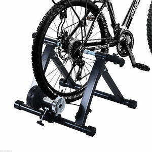 Indoor-Magnetic-Bike-Bicycle-Trainer-Stand-5-Level-Resistance-Black