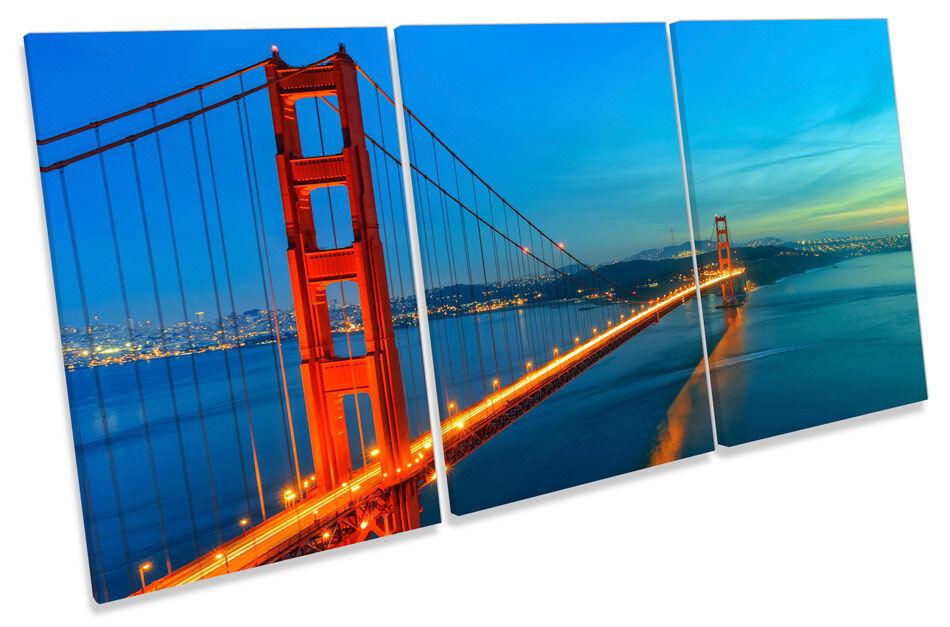 Golden Gate Bridge  CANVAS WALL ART TREBLE Print Picture