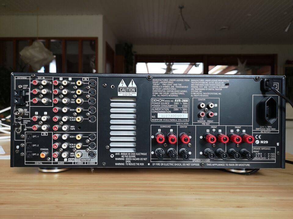 Denon, AVR-2800, 5.1 kanaler