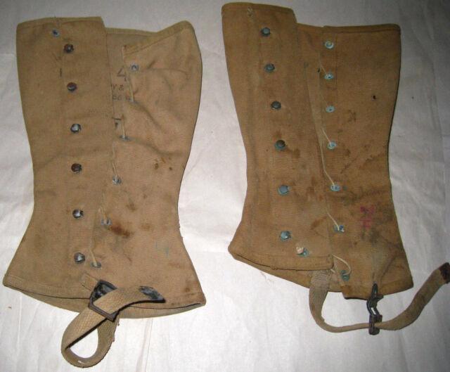 WW II Leggings Gregory & Read  Co 03/12/43