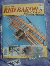 HACHETTE BUILD THE RED BARON'S FIGHTER PLANE FOKKER DR1 # 72 NEW SEALED